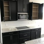 Timberlake Tahoe espresso cabinets, microwave bump out, microwave bump up    Modern bathrooms interior, Bathroom design small, Small bathroom remodel  designs