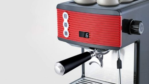 Machine Brushed Stainless Steel Steam pipeCoffee Machine Professional Coffee  1.7L Capacity Coffee Makerwith Timer withTouch