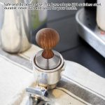 51mm Coffee Tamper,Practical Handheld Espresso with Rosewood Handle Coffee Tamper  Espresso Powder Flat Press Hammer absolutebeauty.co.za