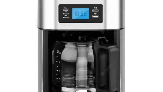 Excelvan 1050W, 1.25L 10-Cup Automatic Programmable Coffee maker, Built-in  Grind-and-Brew Includes Permanent Reusable S/S Filter- Silver and Black  Sale, Price & Reviews | Gearbest