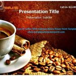 Cup of Coffee With Espresso Beans Powerpoint Template |authorSTREAM