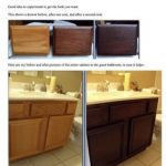 DIY gel staining oak cabinets. If you are tired of looking at oak, this  looks like the best way to get 'new' cabinets…   Staining oak cabinets,  Home diy, Home decor