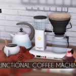 Functional Coffee Machine - The Sims 4 Download - SimsDomination