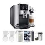 JURA S8 Automatic Coffee Machine, Chrome Includes Milk Container, Bean  Canister, Filter, Descaler & Espresso Cups Bundle… - Kusina Ni Boyeng