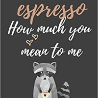 Words Cannot Espresso How Much You Mean To Me: Funny Valentines Gift ~  Raccoon Coffee Themed Lined Notebook: Pencils, Pretty: 9781795395786:  Amazon.com: Books