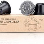 Amazon.com: RECAPS Refillable Coffee Pods Reusable Filters Compatible with  Nespresso Original Line Machines 3 Pack Black: Kitchen & Dining