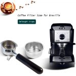 4PCS High Pressure Breville Delonghi Krups Coffee Machine Filter Basket Pod  Double Cup Stainless Steel Single Layer 51mm 2 Cup Coffee Filters  -  AliExpress