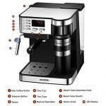 Aicook Espresso and Coffee Machine, 3 in 1 Combination 15Bar Espresso  Machine and Single Serve Coffee Maker With Coffee Mug, Milk Frother for  Cappuccino and Latte, Black - Bazaar Kitchen