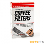 Amazon.com: Krups Natural Brown Paper Filter Size Two 100 Pack: Coffeemaker  Accessories: Kitchen & Dining