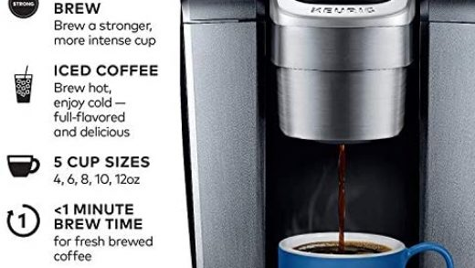 Keurig C K-Elite Maker, Single Serve K-Cup Pod Brewer, with Iced Coffee  Capability, Extra Included, 75oz, Brushed Silver Plus Filter Bundle -  Coffee Doll