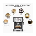 Espresso Machine 15 Bar with Milk Frother, Expresso Coffee Machine for  Espresso, Latte and Mocha, 1.5L Removable Water… - Life-bus