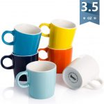 Sweese 409.003 Porcelain Espresso Cups 3.5 Ounce Cool Assorted Colors Set  of 6 absolutebeauty.co.za