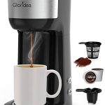 Amazon.com: Single Serve K Cup Coffee Maker for K-Cup Pods and Ground Coffee,  Compact Design Thermal Drip Instant Coffee Machine Brewer, 2 in 1 Strength  Control and Self Cleaning Function by Gloridea: