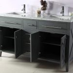 and Mirror Luca Kitchen & Bath LC61AEW Reno 61 Double Vanity Set in Espresso  with Carrara Marble Top Sink w absolutebeauty.co.za