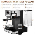 Buy AICOOK AICOOK Espresso and Coffee Machine, 3 in 1 Combination 15 Bar Espresso  Machine and Single Serve Coffee Maker with Coffee Mug, Milk Frother for  Cappuccino and Latte Online at Low