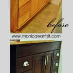 Staining Oak Cabinets an Espresso Finish {FAQ's} - Monica Wants It    Staining oak cabinets, Home decor, Home