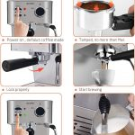 Espresso Machines Office Espresso Machine Automatic coffee machine Espresso  Maker Keep Warm Quick Brewing Rapid heating One Touch Operation for Home RV  Home cronicavecinal.com.ar