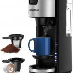 Amazon.com: Singles Serve Coffee Makers For K Cup Pod & Coffee Ground, Mini  2 In 1 Coffee Maker Machines 30 Oz Reservoir Brew Strength Control Small  Coffee Brewer Machine for office Home