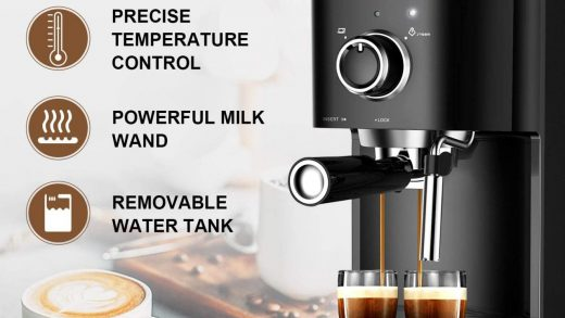 Amazon.com: Espresso Machine 20 Bar Coffee Machine With Foaming Milk  Frother Wand, 1450W High Performance No-Leaking 1.25 Liters Removable Water  Tank Coffee Maker For Espresso, Cappuccino, Latte, Machiato, For Home  Barista BZ-US-CM8001:
