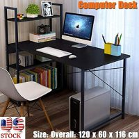 P PURLOVE Modern Simple Design Computer Desk Table Workstation for Home &  Office Black absolutebeauty.co.za