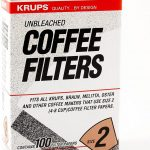 Krups Natural Brown Paper Filter Size Two 100 Pack: Coffeemaker  Accessories: Kitchen & Dining - Amazon.com