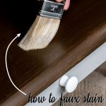 How to Apply Paint that Looks Like Stain (6 Stain Shades to Pick From!)    Staining wood, Staining furniture, Painting trim