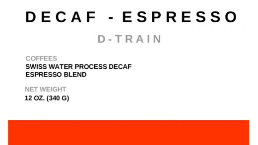 D-Train Espresso (Swiss Water Decaf) • Plowshares Coffee Roasters