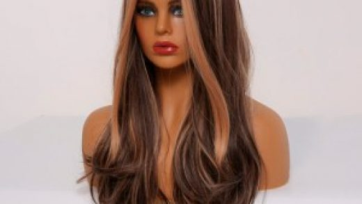 Long Espresso Hair Color With Caramel Highlights Chocolate Hairstyle Honey  Brown Wavy Wigs – Gleaise