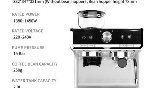 LL-5020 Coffee Machine with Grinder - linglingcoffeeshop