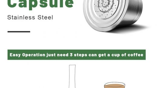 Nespresso Reusable Coffee Capsule Stainless Steel Refillable Filters Espresso  Cup Fit for Inissia & Pixie Coffee Maker Machine - Prices And You