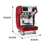 Kitchen, Dining & Bar Commercial Espresso Coffee Machine With Descale  Button 1.7L Water Tank Red 15bar lacnelatky.sk