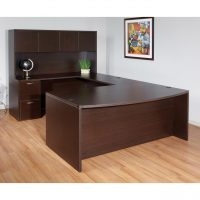 Laminate Bow Front U-Shape Desk with Hutch - Office Furniture Houston, The  Woodlands | Cubicles, Desks, Chairs | WorkSpace Resource, Texas
