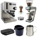 Rancilio Silvia with PID based home barista startup kit with Sette grinder  and ARC scale – Quaffee