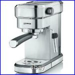 Severin Espresso Coffee Maker & Milk Frother, Brushed Stainless Steel 1.1  Litres