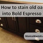How to Stain old oak into bold espresso | Oak cabinets, Refinishing cabinets,  Painting oak cabinets