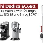 Delonghi EC 680/685 Dedica: a narrow and compact espresso maker with  automatic dosing and a thermoblock for lovers of long coffee.    101Coffeemachines.Info