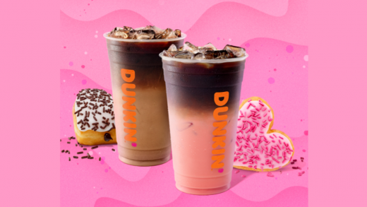 Dunkin' Has Pink Velvet Drinks & Heart-Shaped Donuts for Valentine's Day