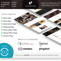 FlyCoffee Shop - Responsive Cafe and Restaurant WordPress Theme by  flytemplates | Restaurant wordpress themes, Wordpress theme, Restaurant