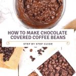 Homemade chocolate covered coffee beans are a splendidly fast and  convenient way to have the best