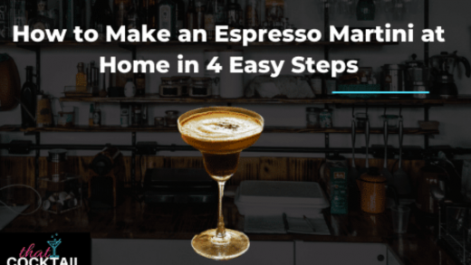 How to Make an Espresso Martini At Home in 4 Easy Steps - That Cocktail