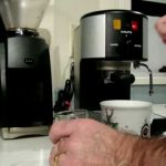 espresso coffee and latte making with a Krups 964 - YouTube