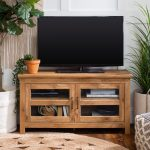 Home & Garden up to 50 inch TV Espresso Dark Brown Wood Finish  Entertainment Cubby TV Stand Modern Entertainment Centers & TV Stands