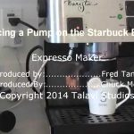 Replacing a pump in a Starbucks Barista Expresso Maker - YouTube