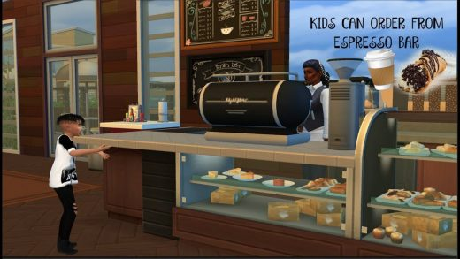 KIDS CAN ORDER FROM ESPRESSO BAR | MOD REVIEW | THE SIMS 4 - YouTube