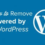 How to Remove the Powered by WordPress Footer Links - YouTube