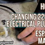 How To: Changing or Adding Electrical Plug on 220 Volt Espresso Machine -  YouTube