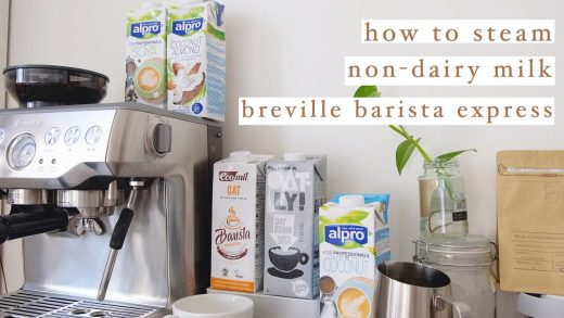 how to steam non-dairy milk using breville barista express | beginner's  guide PART 1 - YouTube