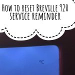 How to reset Breville 920 service reminder - YouTube