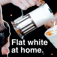 Flat White at home, without a coffee machine • Home Barista. - YouTube