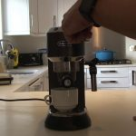 Delonghi Dedica coffee machine reset fix when only 3 seconds of coffee  comes out to get a full cup - YouTube